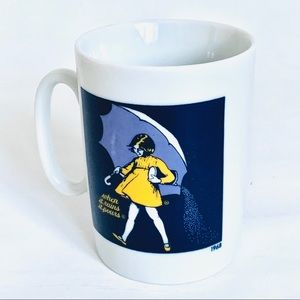Vintage Japan Morton's Salt Ceramic Coffee Mug